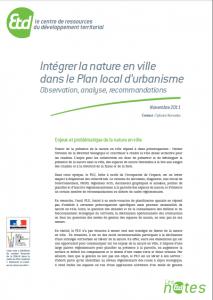 Intégrer la nature en ville dans les PLU